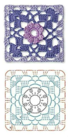 Transcendent Crochet a Solid Granny Square Ideas. Inconceivable Crochet a Solid Granny Square Ideas. Crochet Motifs, Granny Square Crochet Pattern, Crochet Diagram, Crochet Stitches Patterns, Crochet Chart, Crochet Squares, Crochet Granny, Crochet Designs, Granny Squares