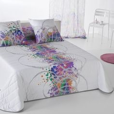 Quilt Cover Sets, Paint Designs, Bed Covers, Bed Spreads, Comforter Sets, Bed Sheets, Screen Printing, Comforters, Master Bedroom