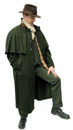 Loden coat - shame about his shoes. Mens Cape, Cool Coats, Lederhosen, Mens Fashion, Fashion Outfits, Fashion Pictures, Dapper, Mantel, Gentleman