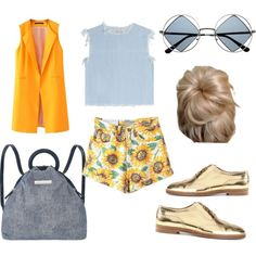 blue and yellow by popalah on Polyvore featuring polyvore fashion style Marc by Marc Jacobs Chicnova Fashion Ralph Lauren Black Label