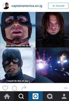 STAHHHP When the parallels between how Steve treats Bucky and Tony just kills you more than you thought they would. Avengers Movies, Marvel Characters, Marvel Movies, Marvel Avengers, Oh Captain My Captain, Captain America And Bucky, Best Superhero, Stucky, The Victim