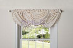 Amazon.com - HLC.ME Claire Textured Heavyweight Rod-Pocket Window Treatment Curtain Valance (Blue) -
