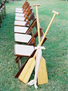 #aisle-decor, #paddleboats  Photography: Amelia Johnson Photography - www.ameliajohnson.net