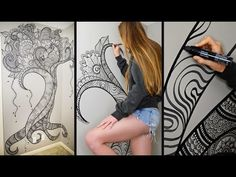 Henna Tree Wall Art | Mehndi Design - YouTube  wow!! Very talented!!