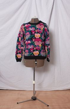 Vintage Pansy Sweater