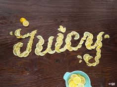 Food Typography by American graphic designer Danielle Evans Food Typography, Typography Images, Creative Typography, Typography Inspiration, Typography Letters, Graphic Design Typography, Design Inspiration, Summer Typography, Graphic Posters