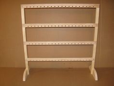 Craft show display earring rail