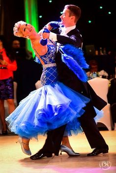 'Charlene Proctor and Igor Kiselev dance International ballroom style at the Michigan Dance Challenge, April 2016.'