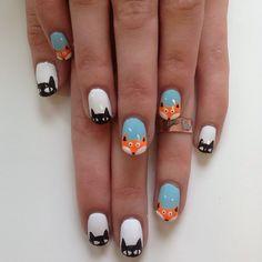 Foxy lady!!! #nails #nailart #melbourne #melbournenailart #Padgram