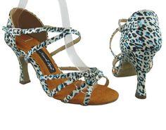 Leopard With A Touch of Power (Satin) Salsa Shoes $109  #Women #Shoes #Latin #Salsa #Dance  http://store.dancingworkshops.com/ProductDetails.asp?ProductCode=LWATP