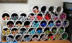 Ideas For Diy Art Supplies Storage Organizing Ideas Art Supplies Storage, Craft Room Storage, Craft Organization, Craft Supplies, Utensil Storage, Organization Ideas, Storage Ideas, Storage Solutions, Craft Rooms