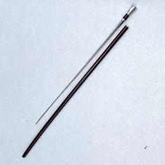 Canne-épée pommeau argent