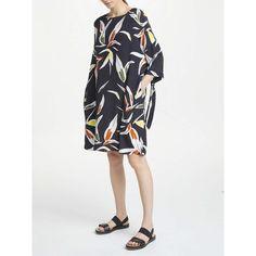 Kin by John Lewis Sibay Tie Detail Oversized Dress, Multi at John Lewis