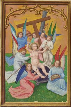 The Christ Child Surrounded by the Instruments of the Passion, Simon Bening, about 1525-30
