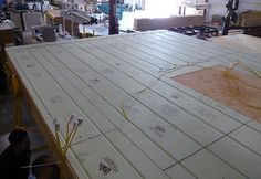 Photo of Warmboard installed in a modular factory.