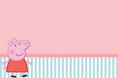 Kit Completo Peppa Pig - Kit Completo com molduras para convites, rótulos para guloseimas, lembrancinhas e imagens! |Fazendo a Nossa Festa