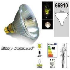 Easy Connect Ampoule E27 PAR38 Eco Halogene 64W (=80W) 66910
