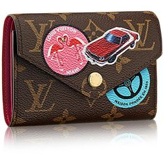 Victorine Wallet - Monogram Canvas - Small Leather Goods | LOUIS... ($590) ❤ liked on Polyvore featuring bags, wallets, canvas wallet, monogrammed wallet, monogrammed bags, real leather wallets and brown leather wallet