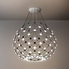 Modern Led Ceiling Lights Elegant Luceplan Mesh Lamp by Francisco Led Pendant Lights, Pendant Lamp, Pendant Lighting, Chandelier, Blitz Design, Modern Lighting Design, Italian Lighting, Deck Lighting, Light Design