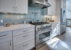 blue backsplash | David Weekley Homes
