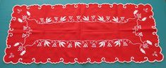 "414. Vintage hand embroidered tablecloth/""kalocsai"" table runner/handmade table runner/Hungarian embroidery/""kalocsai motif""/centerpiece New Embroidery Designs, Embroidery Leaf, Hungarian Embroidery, Embroidery Letters, Embroidery Works, Machine Embroidery Projects, Handmade Desks, Handmade Table, Primitive Stitchery"
