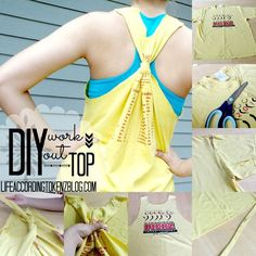 Diy Workout Top In 9 Easy Steps #diy #easy #workout #tanktop #reuse #recycle