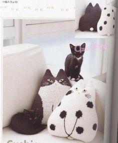 вязаные игрушки - японские кошки