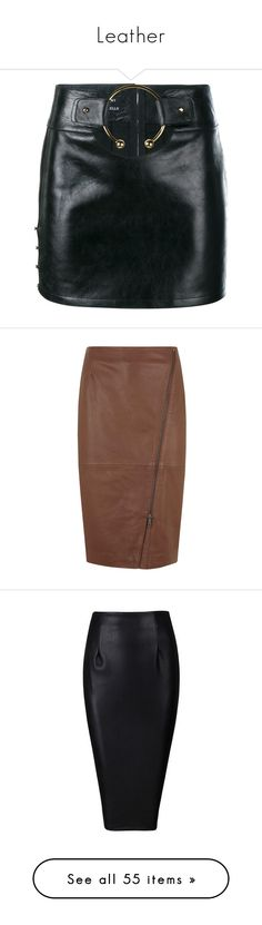 how to style a black Leather pencil skirt