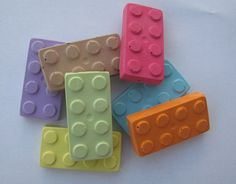 LEGO chalk for party favors