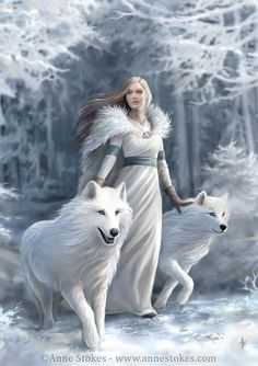 Wolf Maiden - Anne Stokes