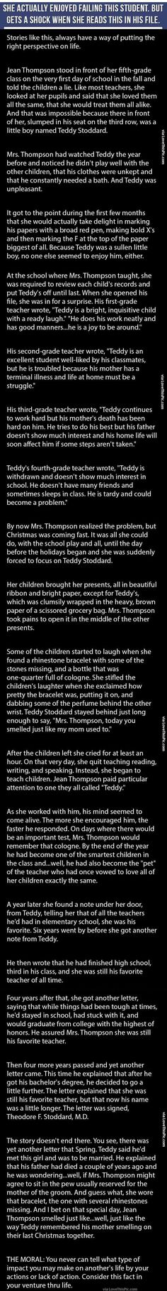 Teacher Gets A Shock When She Opens This Boy's File. This Is Heartbreaking family people story life lessons teacher stories heart warming good people teachers