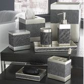 Found it at Wayfair - Parc East Grid Bath Accessory Collection in Silver Graphite