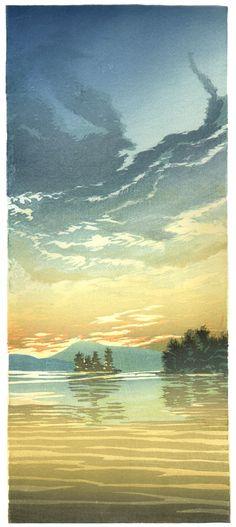 Evening on Lake Winnipeg Matt Brown Wood Block Print