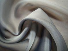 Stunning Billowy GRAY Sheer SILKY Chiffon Solid Fabric