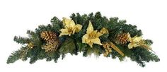 Artificial Christmas Swag by Gordon Companies, Inc. $37.50. This product may be prohibited inbound shipment to your destination.; Brand Name: Gordon Companies, Inc Mfg#: 30785987; Picture may wrongfully represent. Please read title and description thoroughly.; Shipping Weight: 3.00 lbs; Please refer to SKU# ATR25791535 when you inquire.. Artificial Christmas Swag/embellished with pine cones, berries, poinsettias, apples and holly berries/unlit/bendable branches to ...