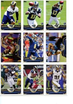 St. Louis Rams 2013 Topps NFL Football Complete Hand Collated Regular  Issue 15 Card 693506982