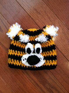 Missouri Tigers Truman the Tiger Crochet Hat by passion4craftin, $11.00
