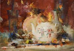 Asian Teapot by Laura Robb Oil ~ 10 x 14