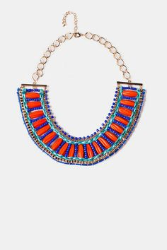 Cairo Beaded Statement Necklace - Francesca's Collections