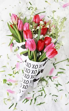Easy & Fun DIY Valentine's Day Gifts -- tulips