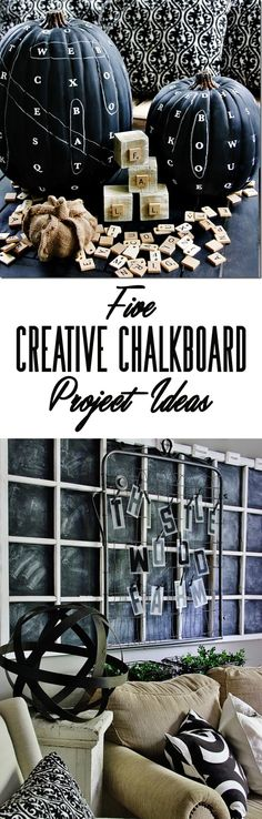 Five Creative Chalkboard Project Ideas - Thistlewood Farm Fall Crafts, Decor Crafts, Crafts To Make, Diy Chalkboard, Chalkboard Designs, Circuit Crafts, Thistlewood Farms, Bazaar Crafts, Fall Decor
