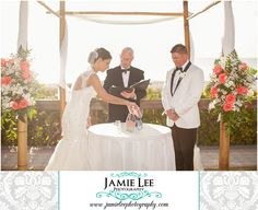 8th Avenue South | Naples Wedding Photographer | Jamie Lee Photography | Outdoor Beach Ceremony | Bride and Groom Sand Ceremony