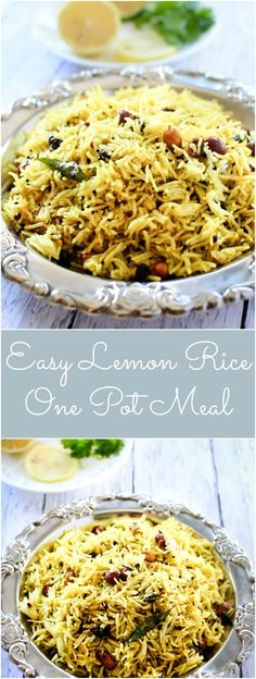 Lemon Rice is a hearty,healthy and easy one pot south indian comfort meal. Learn how to make Lemon Rice with step by step picture instructions. Indian Beef Recipes, Goan Recipes, Rice Recipes, Veggie Recipes, Dinner Recipes, Cooking Recipes, Veggie Meals, Noodle Recipes, Vegetarian Meals