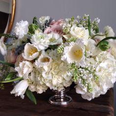 Just a little something we whipped up. #jacksondurham #lushfloral #fringetulips #ranunculus #anemone #whitehydrangea #lilac #blushrose