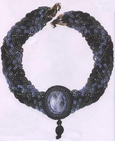 necklace of beads and cabochon