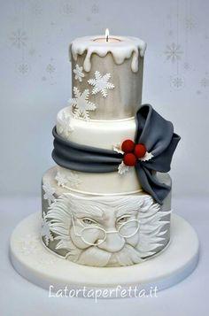 Beautiful & unique, Santa cake.