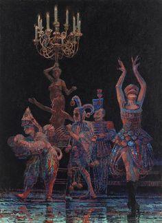 Francis Hamel 'Group of figures in Masquerade (Phantom)'
