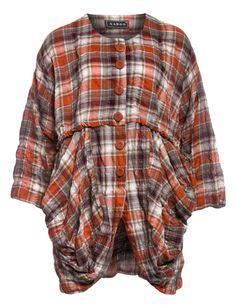 Leichte Baumwolljacke mit Beuteltaschen von Xadoo in Rost / Bunt.Im navabi Online Shop