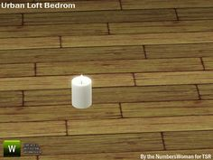 TheNumbersWoman's Modern Urban Rustic Loft Bedroom Candle