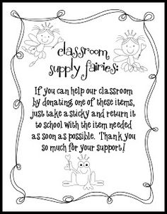Mrs. Byrd's Learning Tree: Ask for what you want!  FREE form to implement a donation system for classroom supplies during the school year!